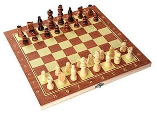 Apexea 13X 13 (Open) Wooden Chess Set for Kids and Adults- Folding Chess Board Wood Pawns
