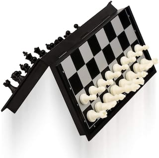 Apexea10X10 Magnetic Travel Chess Set with Folding Chess Board Educational Toys for Kids and Adults