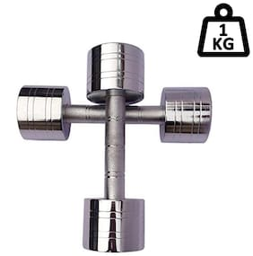 APPSS SPORTS Steel Dumbell Set;Home Gym Set Perfect for Build Muscles;Stamina Great Workout Exercise Range with Hand Grip 1kg;Pack of 2