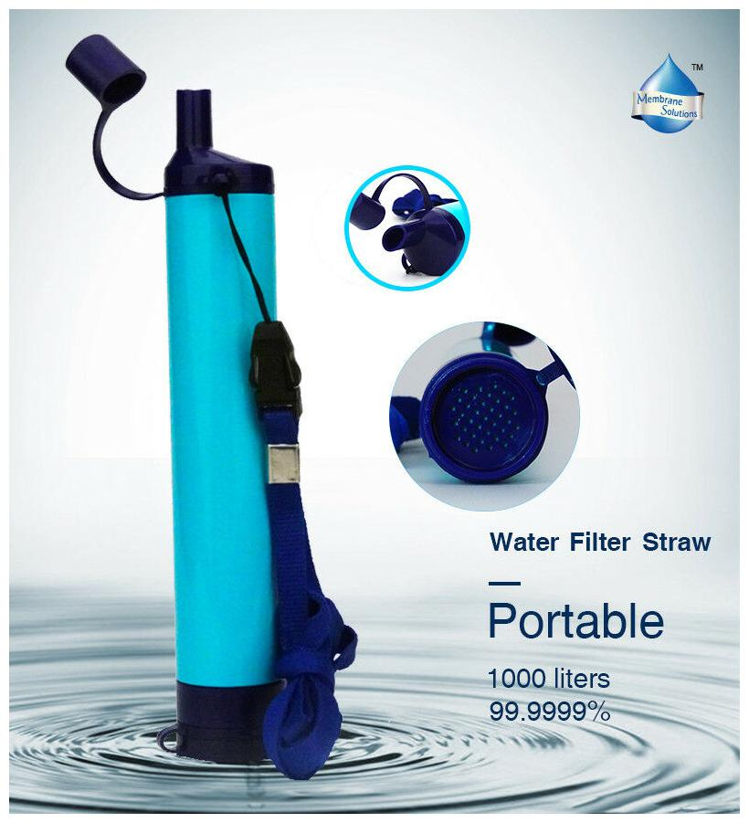 Aqua Filter Fresh Water Filtration Straw Pure for Wildlife  BPA Free Health Test