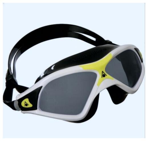 AQUA SPHERE Seal XP 2 Black White Yellow Smoke Lens Swim Mask Goggles NEW Adult