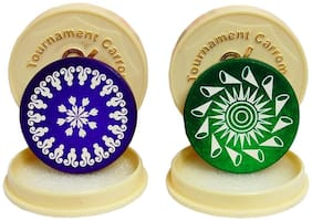 Aramedos Standard Size Carrom Tournament Striker with Smooth Surface and Excellent Re-Bounce 100% Original (Set of 2)