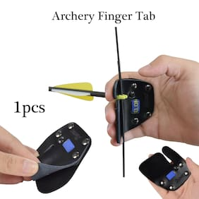 Archery Premium Leather Finger Guards Glove Protector Tab for Recurve Bow Shooti