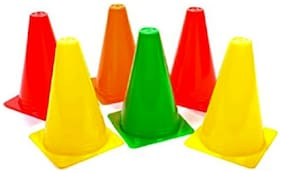 arnav  12 Inch Plastic Field Marker Agility Training Cones in LDPE Plastic for Sports Training, Traffic Cone, and Outdoor Marker Cones for Soccer Cricket Track Ground Space  and Field Sports