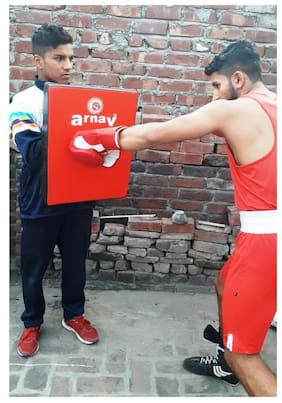 "arnav Boxing /Martial /Karate/Tai Commando/ Focus Pad / Kick Pad 19""X 15"" Straight"