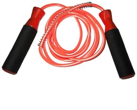 arnav HI SPEED BALL BEARING SKIPPING ROPE WITH COMFORTABLE FOAM GRIP ORANGE