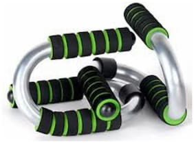 Arnav Imported S Type Push Up Bars/Stand of Steel with Form Grip Double Colour