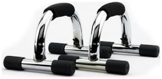 Arnav Imported Hi Quality I Type Push Up Bars/Stand of Steel with Form Grip
