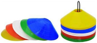 Arnav Plastic Disc Saucer Marker/Marking Cone for Practice Pack of 50 With Stand