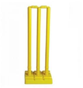 Arnav Plastic Cricket Full Size,Three Stumps, Two Balles, one base of three Stumps,