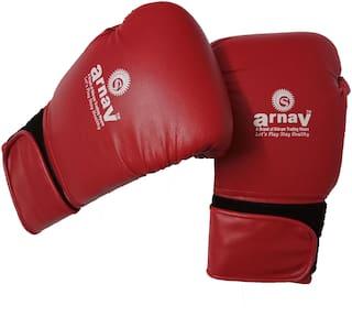 arnav PVC Boxing Gloves with Foam Padded (Red/White)