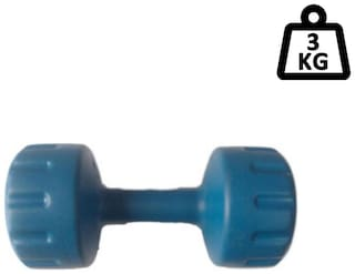arnav Pvc Fixed Weight Dumbell One Pcs of 3 kg Only Home Gym and Fitness