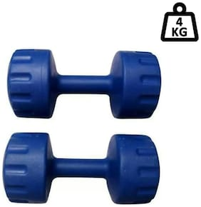 arnav Pvc Fixed Weight Dumbell set of Two pcs ( 2kgx2) Home Gym and Fitness