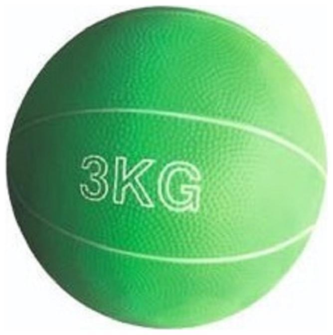 arnav Rubber Gym Medicine Ball Exercise Soft No Boz Yoga Cross Fit Gym Training Fitness 3 kg by Arnav Trading House