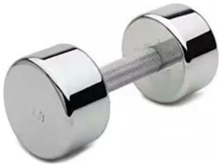 arnav Steel Chrome Fixed Weight Dumbell One pcs of 2 kg Only  Home Gym and Fitness