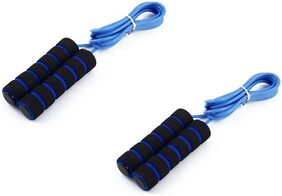 Aryshaa Skipping-Rope Jump Skipping Rope for Best in Fitness, Sports, Exercise, Workout.Assorted Colours (Pack of 2)