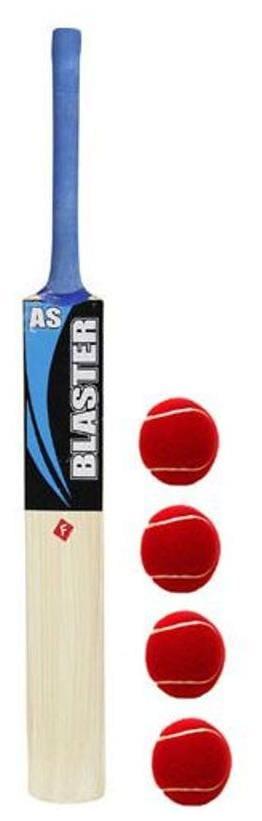 AS BLASTER CRICKET TENNIS BAT WITH  FREE  4 TENNIS BALL - 100% ORIGINAL