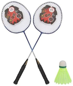 AS - BOKA - Single Rod Badminton Racket (Set of 02 pcs)