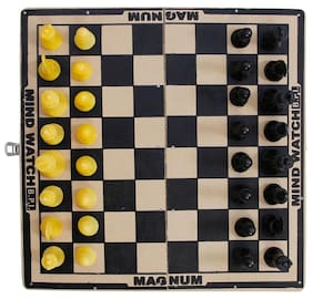 """AS MAGNATE MIND WATCH BEST WOODEN CHEES BOARD (SIZE - 12"""") WITH CHESSMEN"""