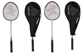 AS - Magnet Badminton Racket -Combo of 02 pcs (Assorted color) with Half Cover