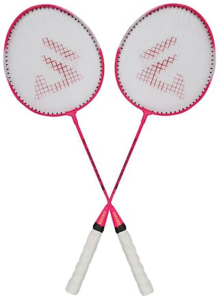 AS SMASH PRO PINK BADMINTON RACQUET (SET OF 2 RACQUET) WITH BEST QUALITY COVER.