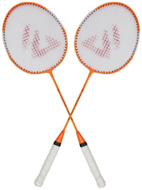AS SMASH PRO ORANGE BADMINTON RACQUET (SET OF 2 RACQUET) WITH BEST QUALITY COVER.