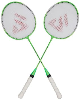 AS SMASH PRO GREEN BADMINTON RACQUET (SET OF 2 RACQUET) WITH BEST QUALITY COVER.