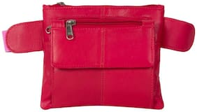 AspenLeather Pink Pouch bag