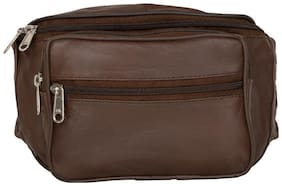AspenLeather Brown Pouch bag