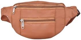 AspenLeather Tan Pouch bag