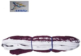 Athlio badminton Cotton Net Maroon Solid Quality (Pack Of 1)