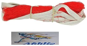 Athlio badminton Nylon Net Red Solid Quality (Pack Of 1)