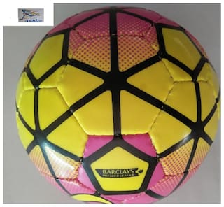 Athlio Barclays  Kids Football Size-2 (Age Group 2-7 Years) Pink/Yellow Solid Quality Pvc