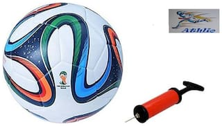 Athlio Brazuca Fifa Multistar Football (Size-5)with Air Pump & Needle