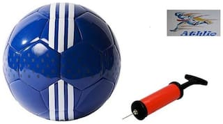 Athlio Chelsea Blue/White Football (Size-5)with Air Pump & Needle