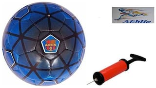 Athlio FCB Barclona Blue Football (Size-5)with Air Pump & Needle
