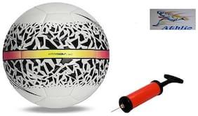 Athlio Hypermenon Multicolor Football (Size-5)with Air Pump & Needle