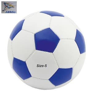 ATHLIO SYNTHETIC FOOTBALL BLUE/WHITE SIZE-5 ( PACK OF 1) AGE GROUP 3-12 YEARS