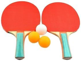 Athlio Table Tennis Racket Kidds Set With 3 Balls (Pack Of 2 Racket 3 Balls)