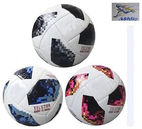 Athlio Telstar Russia 2018 Multicolour Football Size-5 (Pack Of 3 Balls)