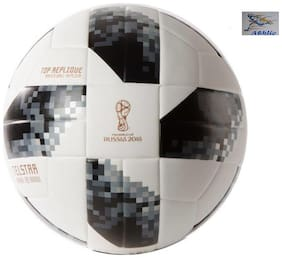 Athlio Telstar Russia 2018 Grey/White Football Size-5 (Pack Of 1)