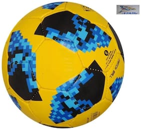 Athlio Telstar Russia 2018 Blue/Yellow Football Size-5 (Pack Of 1)