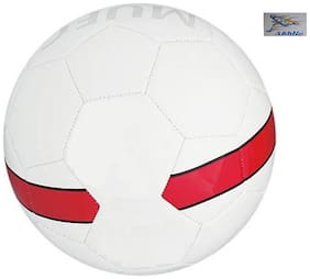 Athlio White & Red 5 Football