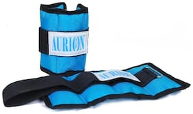 Aurion ANKL-B-1 Canvas Ankle and Wrist Weights, 1Kg (Black/Blue)