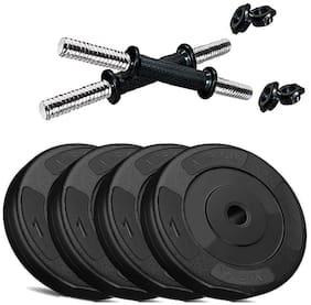 Aurion Fitness PVC Dumbell Set Combo Home Gym (Black)