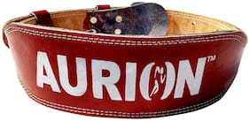 Aurion Leather Weight lifting belt ( M , Brown )