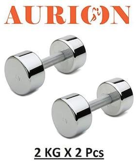 Aurion Steel Dumbbell ( Set of 2 , 4 kg )