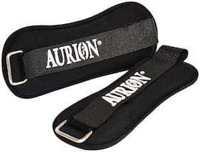 Aurion Wrist/Ankle Weights Pro Quality Adjustable Leg Weights on Ankles/Wirst for Walking + Running Or Hands for Strength Training Exercise for Men and Women 0.5 kg X 2