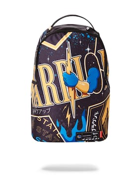 AUTHENTIC SPRAYGROUND NBA LAB WARRIORS BOLT ARM BACKPACK SCHOOL BOOK BAG NEW