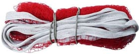 Badminton Practice Nylon Solid Quality Net  (Red)